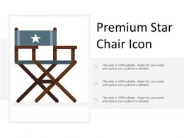 Premium Star Chair Icon