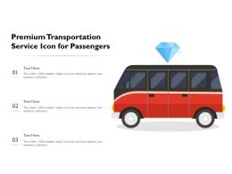 Premium Transportation Service Icon For Passengers
