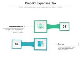Prepaid Expenses Tax Ppt Powerpoint Presentation File Microsoft Cpb