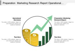 Preparation Marketing Research Report Operational Decisions Economic Technological
