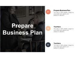Prepare Business Plan Ppt Powerpoint Presentation Pictures Infographics Cpb