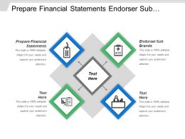 Prepare Financial Statements Endorser Sub Brands Strategic Brands