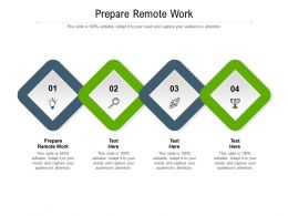 Prepare Remote Work Ppt Powerpoint Presentation Infographic Template Graphics Cpb