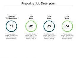 Preparing Job Description Ppt Powerpoint Presentation File Template Cpb