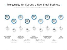 Prerequisite For Starting A New Small Business