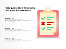 Prerequisite Icon Illustrating Document Requirements
