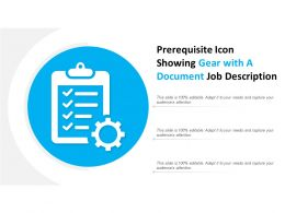 Prerequisite Icon Showing Gear With A Document Job Description