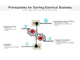 Prerequisites For Starting Electrical Business