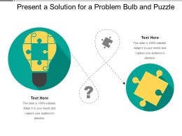 Present A Solution For A Problem Bulb And Puzzle