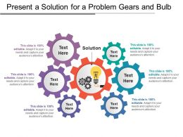 Present A Solution For A Problem Gears And Bulb