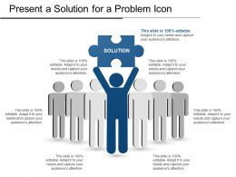 Present A Solution For A Problem Icon