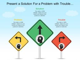 Present A Solution For A Problem With Trouble And Arrows Image