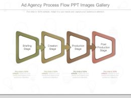 Present Ad Agency Process Flow Ppt Images Gallery