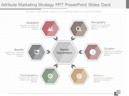 Present Attribute Marketing Strategy Ppt Powerpoint Slides Deck
