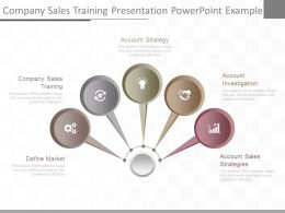 Present Company Sales Training Presentation Powerpoint Example