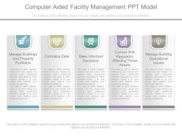 Present Computer Aided Facility Management Ppt Model