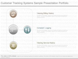 Present Customer Tracking Systems Sample Presentation Portfolio