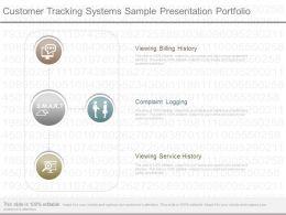 Present Customer Tracking Systems Sample Presentation Portfolio