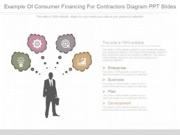 Present Example Of Consumer Financing For Contractors Diagram Ppt Slides