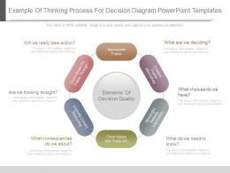 Present Example Of Thinking Process For Decision Diagram Powerpoint Templates