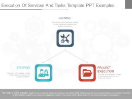 Present Execution Of Services And Tasks Template Ppt Examples