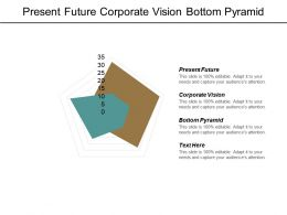 Present Future Corporate Vision Bottom Pyramid Forecasting Management Cpb