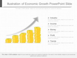 Present Illustration Of Economic Growth Powerpoint Slide