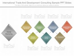 Present International Trade And Development Consulting Sample Ppt Slides