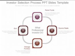 Present Investor Selection Process Ppt Slides Template