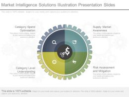 Present Market Intelligence Solutions Illustration Presentation Slides