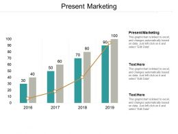 Present Marketing Ppt Powerpoint Presentation Gallery Objects Cpb