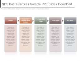 Present Nps Best Practices Sample Ppt Slides Download