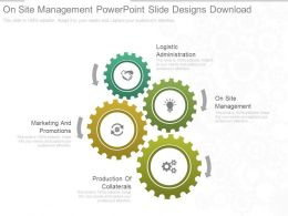Present On Site Management Powerpoint Slide Designs Download