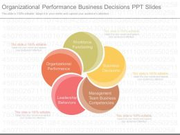 Present Organizational Performance Business Decisions Ppt Slides