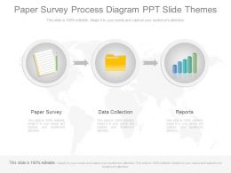 Present Paper Survey Process Diagram Ppt Slide Themes