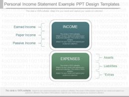 Present Personal Income Statement Example Ppt Design Templates