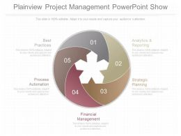 Present Plainview Project Management Powerpoint Show
