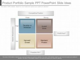 Present Product Portfolio Sample Ppt Powerpoint Slide Ideas
