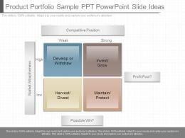 Present Product Portfolio Sample Ppt Powerpoint Slide Ideas