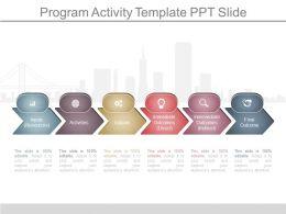 Present Program Activity Template Ppt Slide