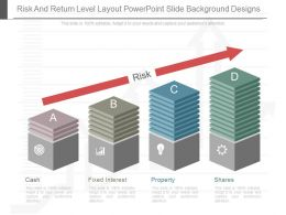 Present Risk And Return Level Layout Powerpoint Slide Background Designs