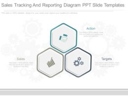 Present Sales Tracking And Reporting Diagram Ppt Slide Templates