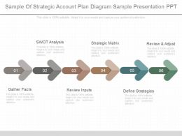 Present Sample Of Strategic Account Plan Diagram Sample Presentation Ppt