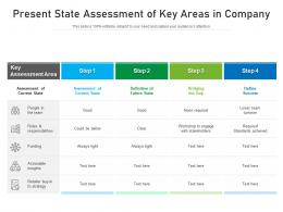 Present State Assessment Of Key Areas In Company