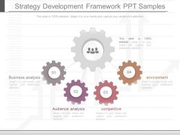 Present Strategy Development Framework Ppt Samples