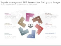 Present Supplier Management Ppt Presentation Background Images
