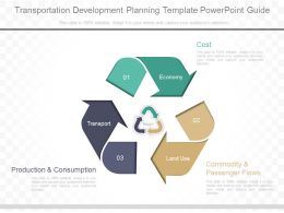 Present Transportation Development Planning Template Powerpoint Guide