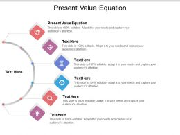 Present Value Equation Ppt Powerpoint Presentation Icon Model Cpb