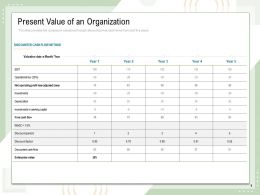 Present Value Of An Organization Adjusted Taxes Ppt Powerpoint Presentation File Microsoft
