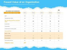 Present Value Of An Organization Ppt Powerpoint Presentation Visual Aids Professional